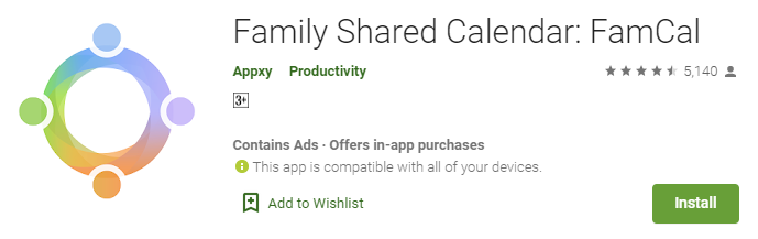 famcal-for-pc-free